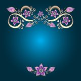 Decorative floral background with flowers. Royalty Free Stock Image