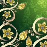 Decorative floral background with flowers. Royalty Free Stock Photos