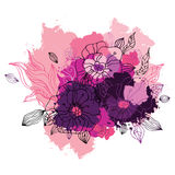 Decorative floral background. Stock Photo