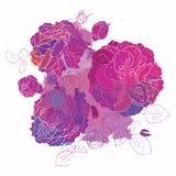 Decorative floral background. Stock Photos