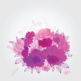 Decorative floral background. Royalty Free Stock Image