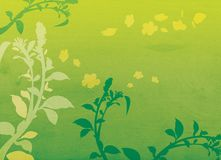 Decorative floral background illustration. With a slight wood texture Stock Image