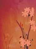 Decorative floral background illustration. With a slight wood texture Stock Photos