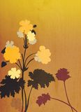 Decorative floral background illustration. With a slight wood texture Stock Photography