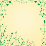 Decorative floral background with leavesat the cor Royalty Free Stock Images