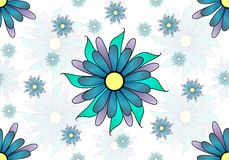 seamless floral pattern on white background Royalty Free Stock Images