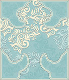 Decorative floral background in pastel blue colors Royalty Free Stock Image