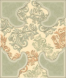 Decorative floral background in pastel colors Stock Images