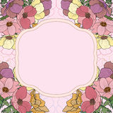 Decorative floral background. Floral decorative background with pink flowers stock illustration