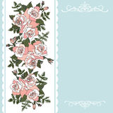 Decorative floral background with roses. Floral invitation card for greetings royalty free illustration
