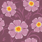 Decorative floral background. Seamless pattern Stock Photo