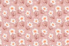 Decorative floral background. Seamless pattern with decorative floral background vector illustration vector illustration