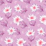 Decorative floral background. Seamless pattern with decorative floral background vector illustration stock illustration