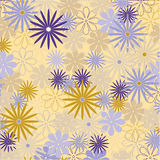 Decorative floral background. Vector seamless pattern with floral elements, spring flowers, vector illustration Stock Photography