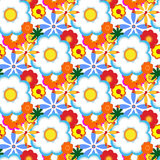 Decorative floral background. Vector seamless pattern with floral elements, spring flowers, vector illustration Stock Images