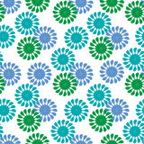Decorative floral background. Vector seamless pattern with floral elements, spring flowers, vector illustration Royalty Free Stock Image