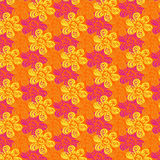 Decorative floral background. Vector seamless pattern with floral elements, vector illustration stock illustration