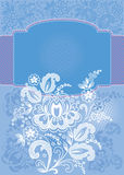 Decorative floral blue background Royalty Free Stock Photo