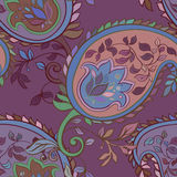 Decorative floral boho seamless pattern Royalty Free Stock Image