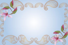 Decorative floral border Stock Photo