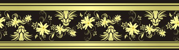 Decorative floral border with chamomiles Stock Photography