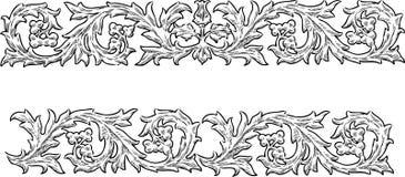 Decorative Floral Border Element Stock Photography