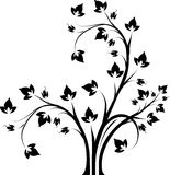 Decorative floral branch black and white. Decorative floral branch black and white Stock Photo