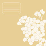 Decorative floral card with a tansy and space for. Decorative floral card with space for text Royalty Free Stock Photos