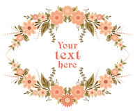 Decorative floral card template Royalty Free Stock Photos