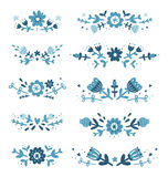 Decorative floral compositions set 2 Stock Photography