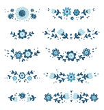 Decorative floral compositions. Decorative floral vector compositions collection Royalty Free Stock Images