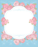 Decorative floral design. Decorative floral background with floral design royalty free illustration