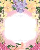 Decorative floral design. Decorative floral background with floral design vector illustration