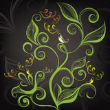 Decorative floral design. Vector illustration Stock Image