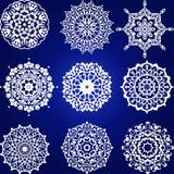Decorative floral element Set, snowflakes Stock Images