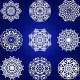 Decorative floral element Set, snowflakes Stock Photo