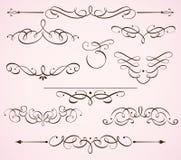 Decorative floral elements Stock Image