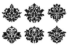 Decorative floral elements Royalty Free Stock Photos