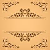 Decorative floral elements Stock Photo