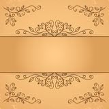 Decorative floral elements Royalty Free Stock Photography
