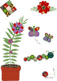 Decorative floral embroidery Royalty Free Stock Image