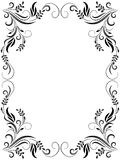 Decorative floral frame. For various design artwork Royalty Free Stock Photo