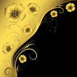 Decorative floral frame Royalty Free Stock Images