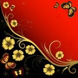 Decorative floral frame Stock Images