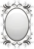 Decorative floral frame. For design. Illustration Royalty Free Stock Photo