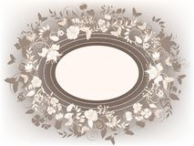 Decorative floral frame Royalty Free Stock Image