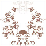 Decorative floral frame. Plastic brown decorative floral frame Stock Photos