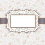 Decorative floral  frame. Decorative  frame on floral background Stock Photo