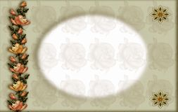 Decorative floral frame Royalty Free Stock Photos