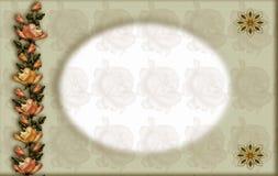 Decorative floral frame royalty free stock photos
